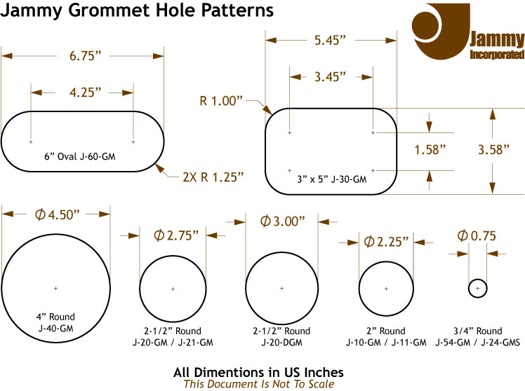 Grommet Hole Dimentions